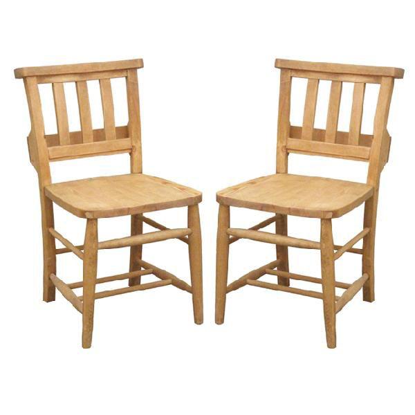 ダイニングチェアー 木製 カントリー風 ナチュラル 2脚セット 食堂椅子 食堂イス 食卓チェアー 食堂チェアー カウンターチェアー いす カフェチェアー