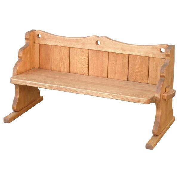 キッズベンチ 木製 カントリー風 ナチュラル