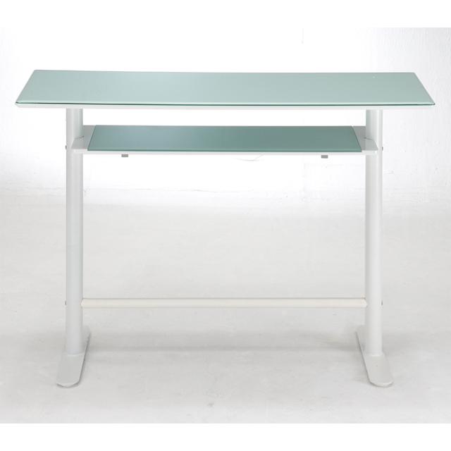 カウンターテーブル バーテーブル カフェテーブル ハイタイプテーブル てーぶる ガラス製 シンプル ホワイト 白