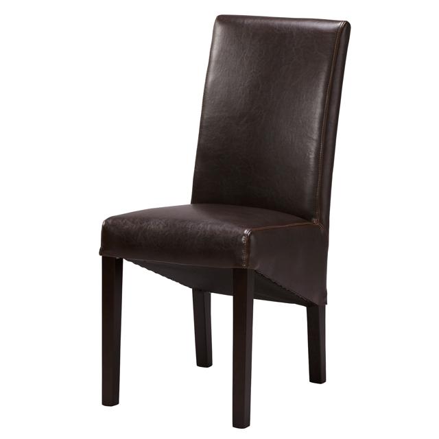ダイニングチェアー 合皮製 カフェ 2脚セット ブラウン 食堂椅子 食堂イス 食卓チェアー 食堂チェアー カウンターチェアー いす カフェチェアー