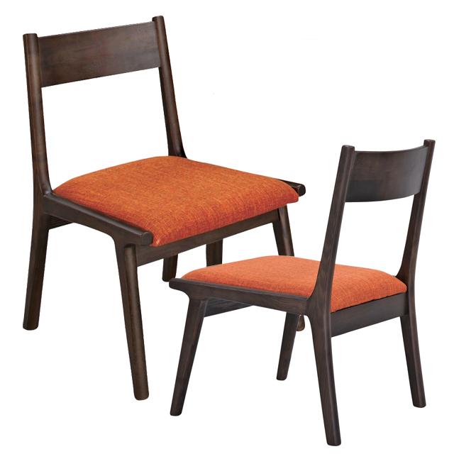 ダイニングチェアー 木製 2脚セット ブラウン 食堂椅子 食堂イス 食卓チェアー 食堂チェアー カウンターチェアー いす カフェチェアー