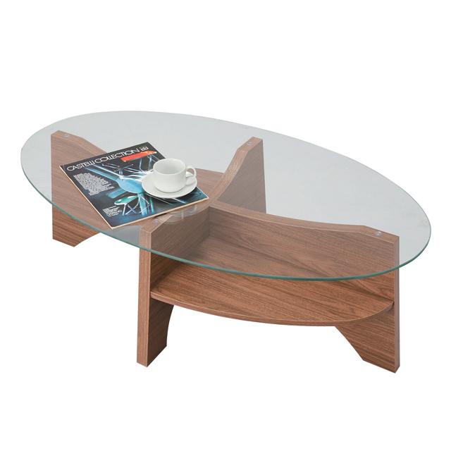 センターテーブル ローテーブル リビングテーブル コーヒーテーブル てーぶる ガラステーブル 105cm幅 幅105cmガラス ブラウン