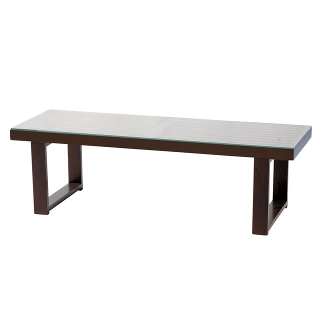 センターテーブル 定番から日本未入荷 ローテーブル リビングテーブル ストア コーヒーテーブル てーぶる ガラステーブル ガラス製 115cm幅 ブラウン カジュアル 幅115cm