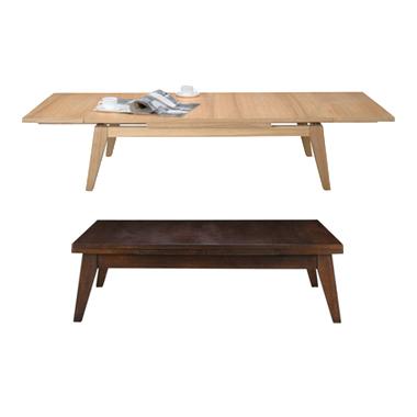 センターテーブル ローテーブル リビングテーブル コーヒーテーブル てーぶる 木製 180cm幅 幅180cm伸長式 ナチュラル ブラウン