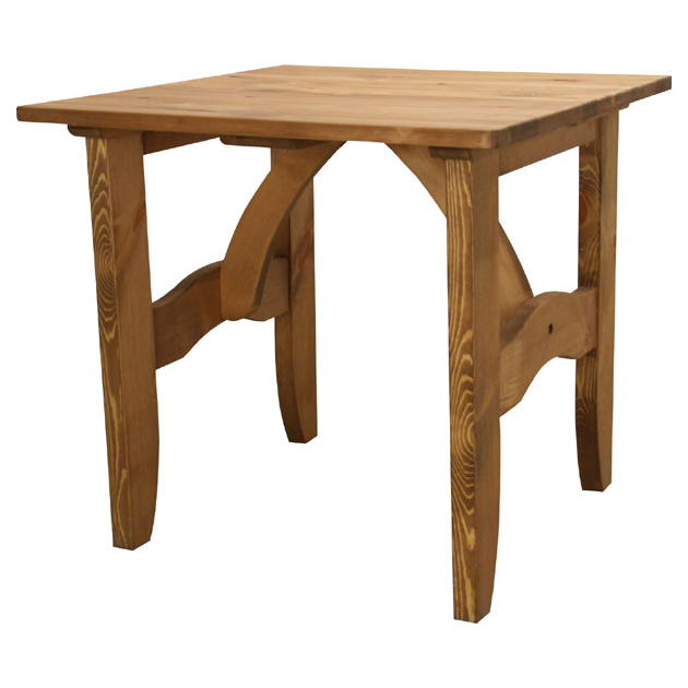 Dining Table Wooden Country Style 75 Cm Width Cafe Tables Room Two People For 2