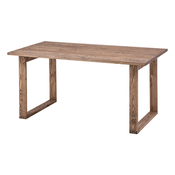 ダイニングテーブル 木製 北欧風 幅150cm ブラウン 4人用 四人用 食堂テーブル 食卓テーブル カフェテーブル てーぶる