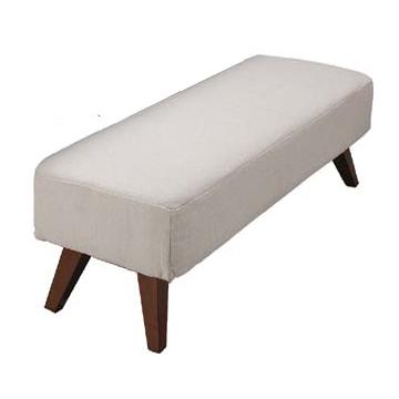 ダイニングベンチ ダイニングチェアー 布張り製 シンプル 115cm幅 幅115cm ベージュ ベンチチェアー 椅子 いす