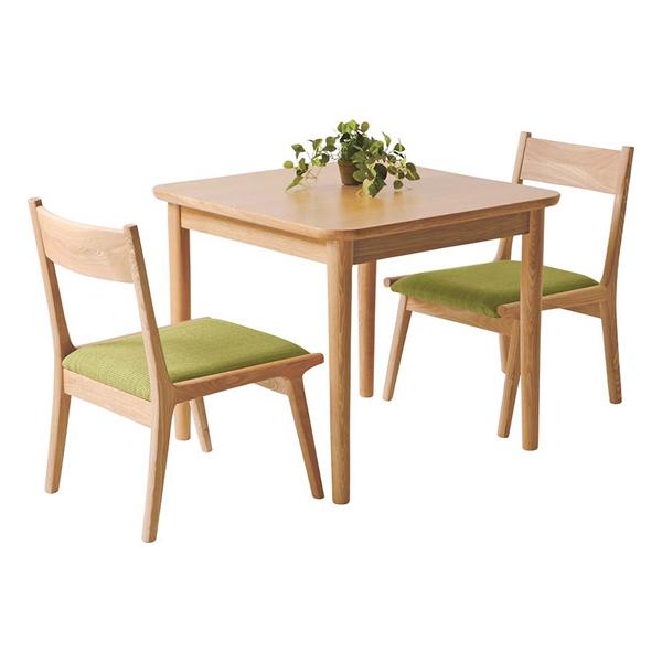 ダイニングテーブルセット ダイニングセット 3点セット 2人掛け カフェテーブルセット 2人用 食堂セット 食卓テーブルセット ダイニング3点セット 二人掛け 二人用 木製 北欧風 ナチュラル グリーン 緑