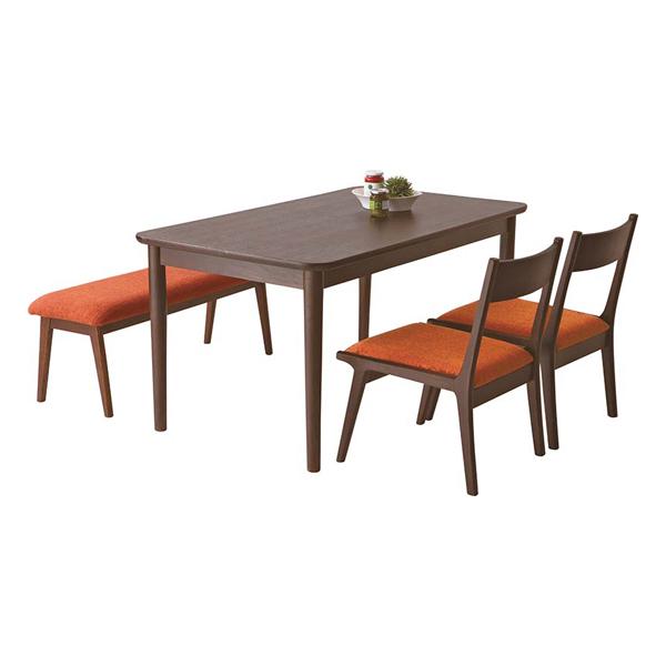 ダイニングテーブルセット ダイニングセット ベンチタイプ 4点セット 4人掛け 4人用ダイニングセット 食堂セット 食卓テーブルセット ダイニング4点セット カフェテーブルセット 四人掛け 四人用 木製 北欧風 ブラウン