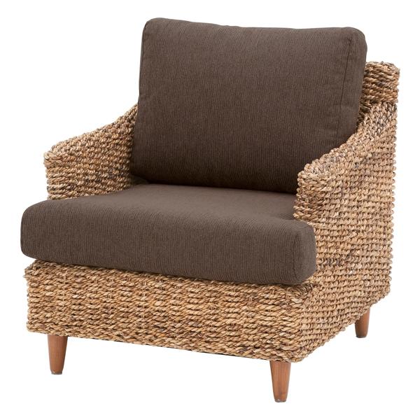 ソファー 1人掛けソファー 1人用ソファー 一人掛け 一人用 布張り製 アジアン ブラウン そふぁー