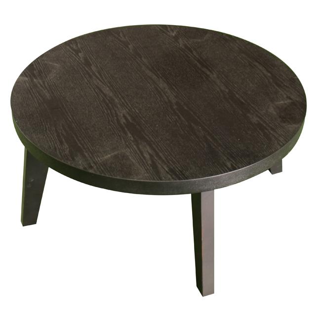 こたつ コタツ 円型 家具調こたつ 家具調コタツ テーブル おしゃれ インテリアこたつ インテリアコタツ 木製 和風 80cm幅 幅80cm ダークブラウン