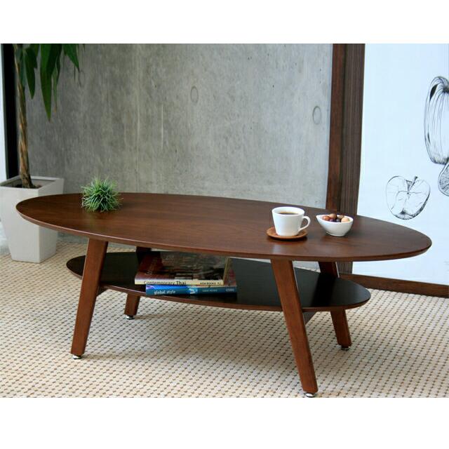 センターテーブル ローテーブル リビングテーブル コーヒーテーブル てーぶる 木製 120cm幅 幅120cm円形 ブラウン