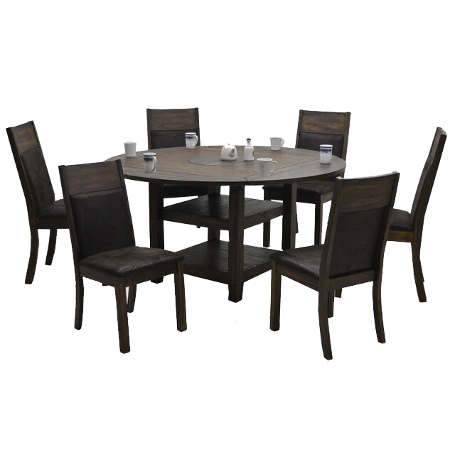 Dining Set Cafe Table Room 6 For Person People Hung And Seven Points