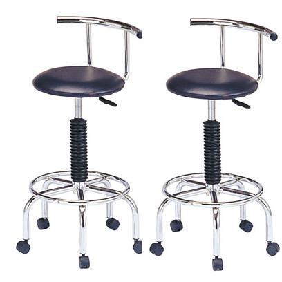カウンターチェアー バーチェアー バースツール カウンタースツール イス 椅子 合成皮革製 2脚セット ブラック 黒