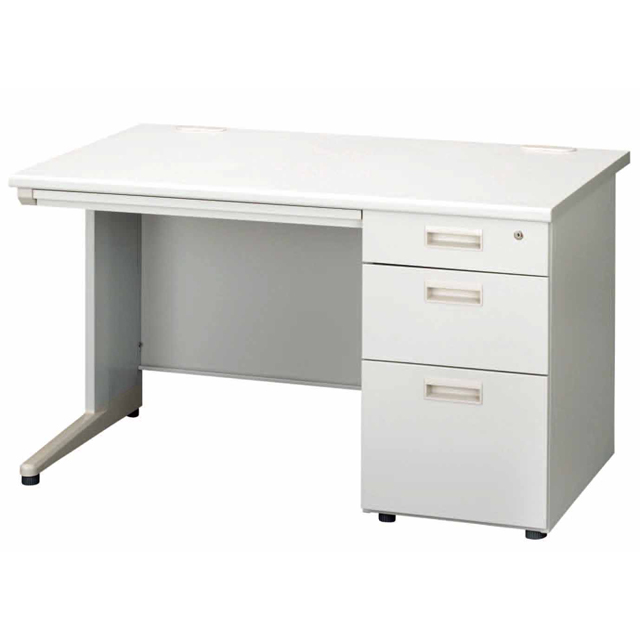 Writing Desk Steel Simple 120 Cm Width Piece Sleeves Gray Working Desks Computer Pc Office