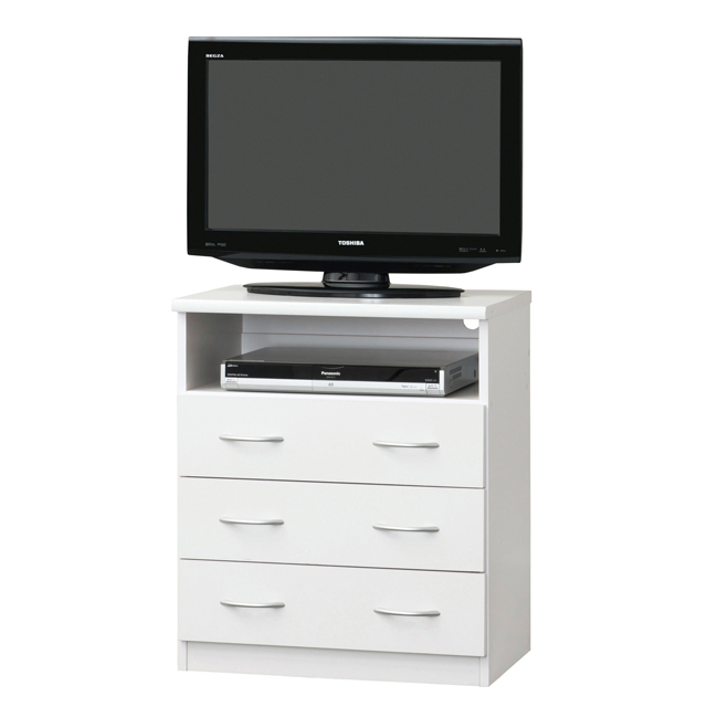 Tv Table Sideboard High Type Simple 60 Cm Width Board Stand Living Av Storage Make White