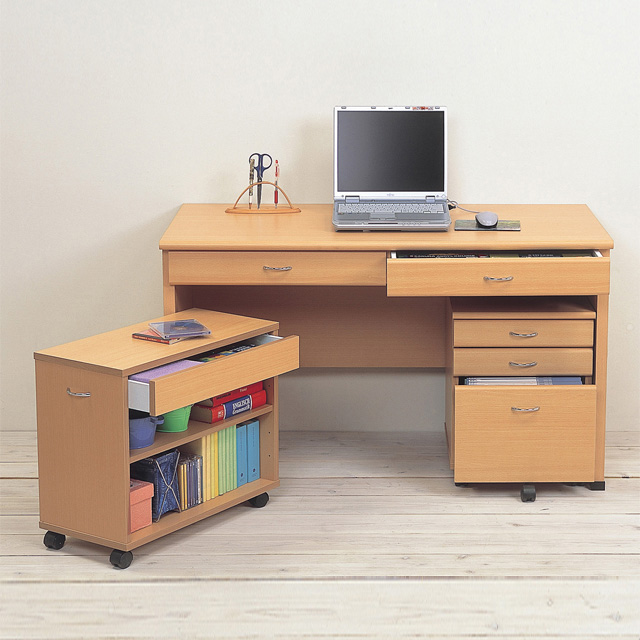 Den Desk Modern 120 Cm Width 120 Cm Natural Working Desk Study Desk  Computer Desk Desk Office Desks Office Desk Work Table PC For Pc For  Writing Desk