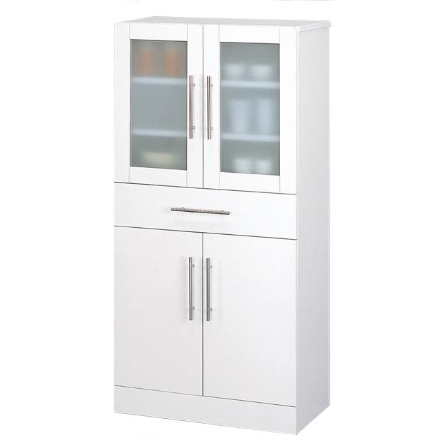 食器棚 幅60cm 60cm幅 60幅 高さ120cm ダイニングボード キッチンボード 食器収納棚 キッチン収納棚 木製 シンプル ホワイト 白