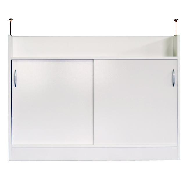 カウンター下収納 完成品 シンプル 120cm幅 幅120cm 国産品 日本製 ホワイト 白 キッチン収納家具 食器棚 食器収納  スリム 薄型
