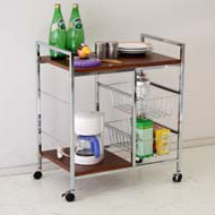 キッチンカウンター キッチン収納 木製 シンプル 幅60cm 60cm幅 60幅 キャスター付き ブラウン