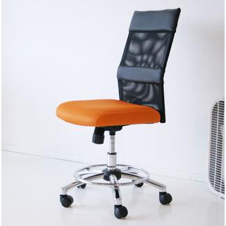 オフィスチェアー 事務用チェアー 事務用椅子 デスクチェアー ワークチェアー パソコンチェアー ワーキングチェアー おしゃれ メッシュ製 55cm幅ミドルバック ハイバック オレンジ