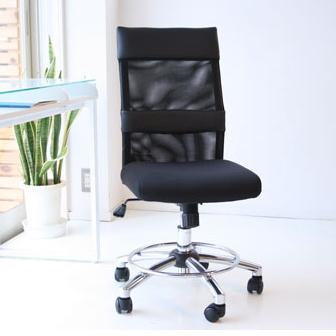 オフィスチェアー 事務用チェアー 事務用椅子 デスクチェアー ワークチェアー パソコンチェアー ワーキングチェアー おしゃれ メッシュ製 55cm幅ミドルバック ハイバック ブラック 黒