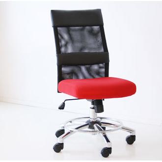 オフィスチェアー 事務用チェアー 事務用椅子 デスクチェアー ワークチェアー パソコンチェアー ワーキングチェアー おしゃれ メッシュ製 55cm幅ミドルバック ハイバック レッド 赤