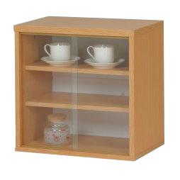 食器棚 幅45cm 45cm幅 45幅 高さ45cm 引き戸 ダイニングボード キッチンボード 食器収納棚 キッチン収納棚 シンプル ミニ ナチュラル