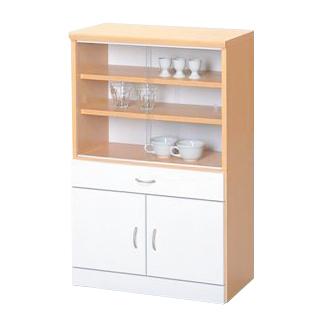 食器棚 幅60cm 60cm幅 60幅 高さ90cm 引き戸 ロータイプ ダイニングボード キッチンボード 食器収納棚 キッチン収納棚  ナチュラル ホワイト 白