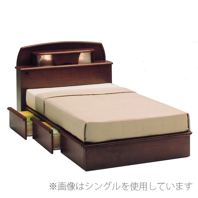 Semi Double Bed Frame Casual Modern 130 Cm Width With Palace Drawer Brown