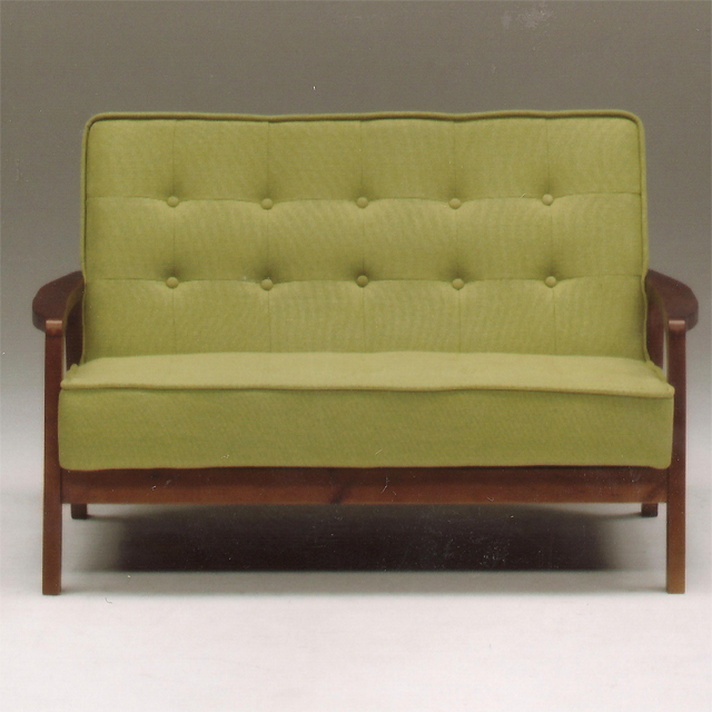 Two Seat Sofa For People Sofer Love Compact Upholstered With Modern 120 Cm Width Green