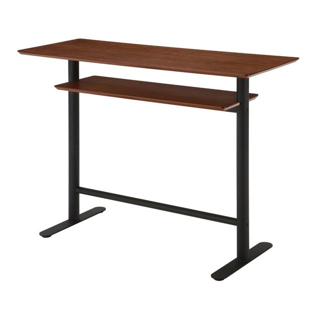 カウンターテーブル バーテーブル カフェテーブル ハイタイプテーブル てーぶる 幅120cm ブラウン 木製 モダン風