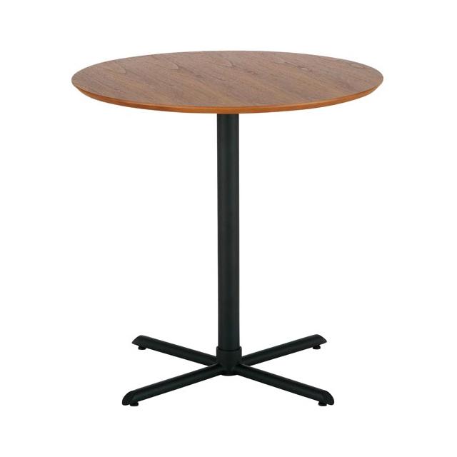 カフェテーブル 幅65cm 円形 2人用 2人掛け用 モダン ブラウン
