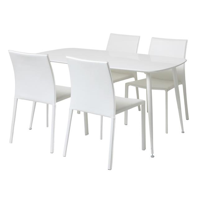ダイニングテーブルセット ダイニングセット 5点セット 4人掛け 4人用 食堂セット 食卓テーブルセット ダイニング5点セット・カフェテーブルセット 四人掛け 四人用 ホワイト 白 木製 モダン風