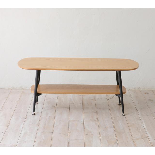 センターテーブル ローテーブル リビングテーブル コーヒーテーブル てーぶる 幅100cm ナチュラル ブラック 黒 木製 北欧風