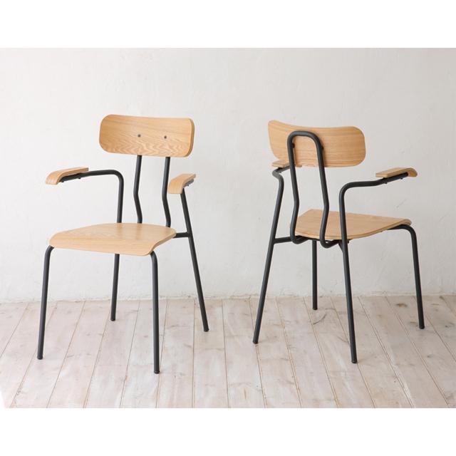 ダイニングチェアー 肘付き 2脚セット ナチュラル ブラック 黒 木製 北欧風 食堂椅子 食堂イス 食卓チェアー 食堂チェアー カウンターチェアー いす カフェチェアー
