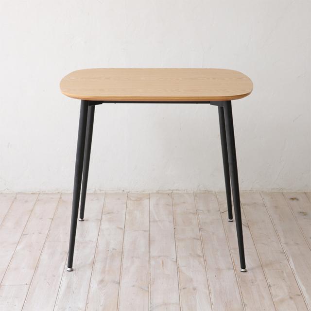 ダイニングテーブル 幅80cm ナチュラル ブラック 黒 北欧風 木製 アンティーク風 ブラウン カフェテーブル 食堂テーブル 食卓テーブル てーぶる 2人用 二人用
