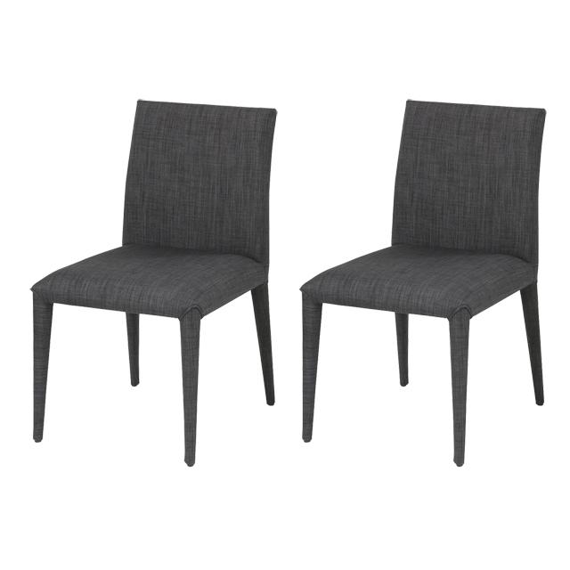 Dining Chair 2 Legged Scandinavian Room Upholstered Set Dark Gray Chairs Cafecheart