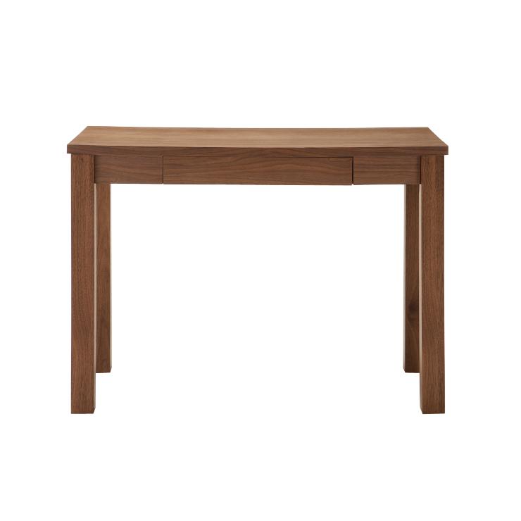 書斎デスク 幅100cm 木製 北欧風 引き出し付き ブラウン