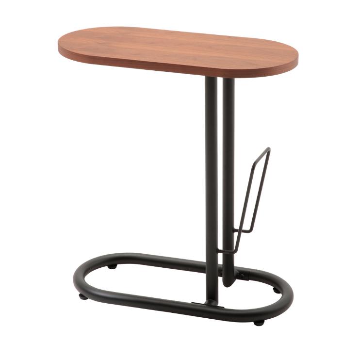 サイドテーブル 幅50cm モダン ブックスタンド付き