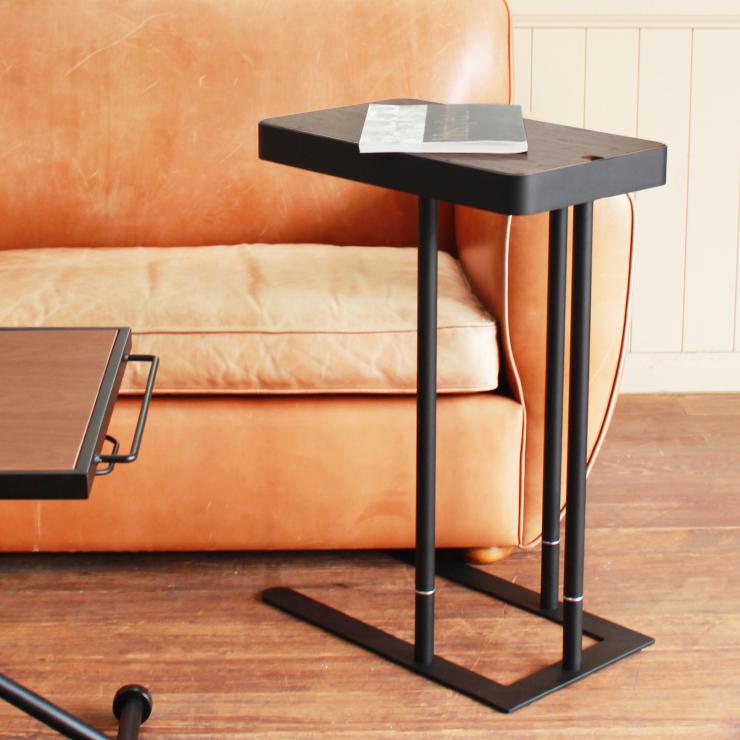 サイドテーブル 幅50cm 収納付き モダン ブラウン
