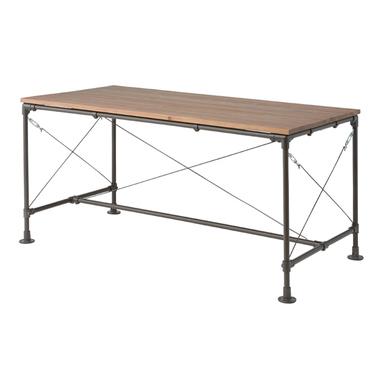 ダイニングテーブル 幅155cm ブラウン ミッドセンチュリー風 4人用 四人用 食堂テーブル 食卓テーブル カフェテーブル てーぶる