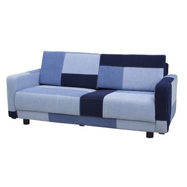 ソファー 2人掛けソファー 2人用ソファー 二人掛け 二人用 ブルー 青 布張り製 モダン風 そふぁー