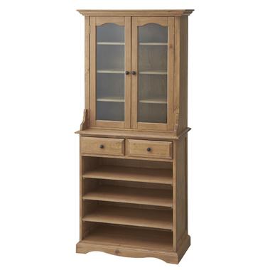 食器棚 幅85cm 85cm幅 85幅 ナチュラル 木製 カントリー風 ダイニングボード キッチンボード 食器収納家具 キッチン収納棚 水屋