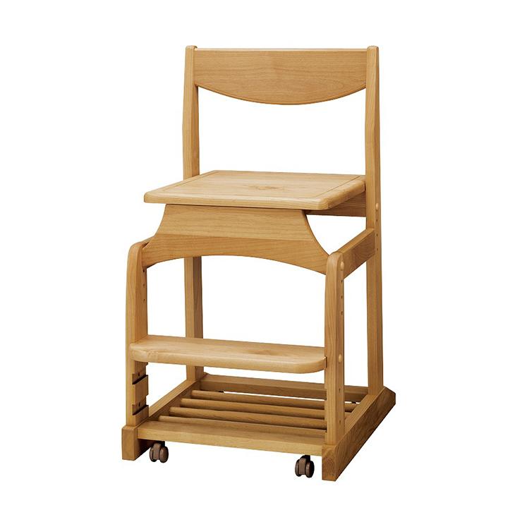 学習チェアー 椅子 いす デスクチェアー 勉強椅子 ナチュラル アルダー 国産品 日本製 堀田木工所 ダック No3