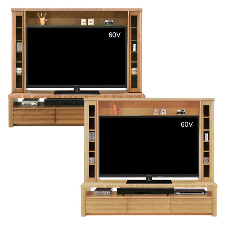 テレビ台 テレビボード ハイタイプ 準完成品 幅180cm ブラウン ナチュラル 木製 北欧風 ハイタイプテレビボード TVボード てれび台 TV台 テレビラック リビングボード AVラック AV収納 収納付き