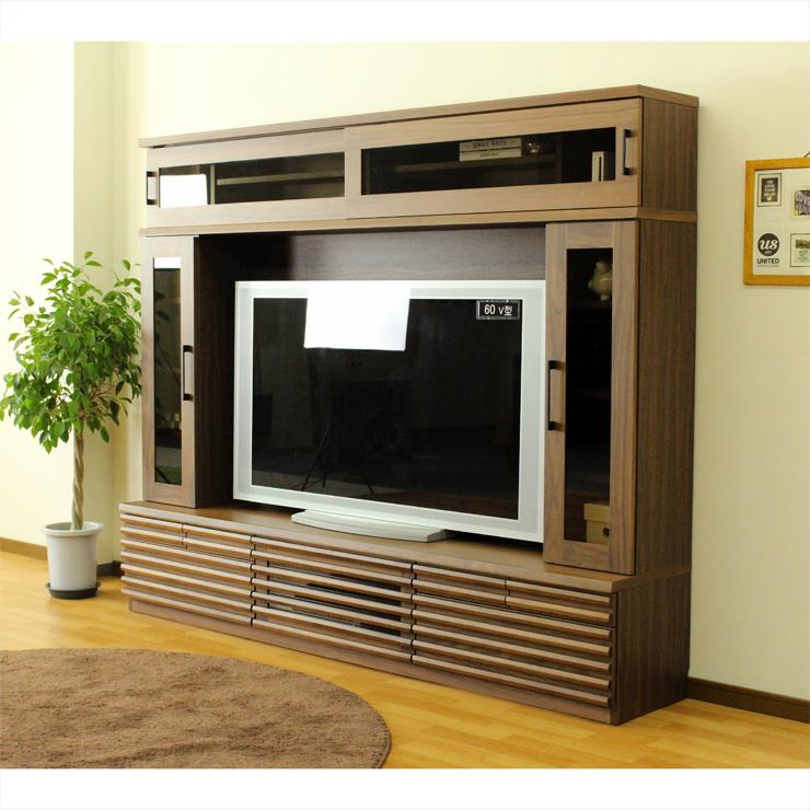 テレビ台 テレビボード ハイタイプ 幅210cm ナチュラル 木製 北欧風 収納付き テレビボード TVボード てれび台 TV台 リビングボード AV収納 テレビラック