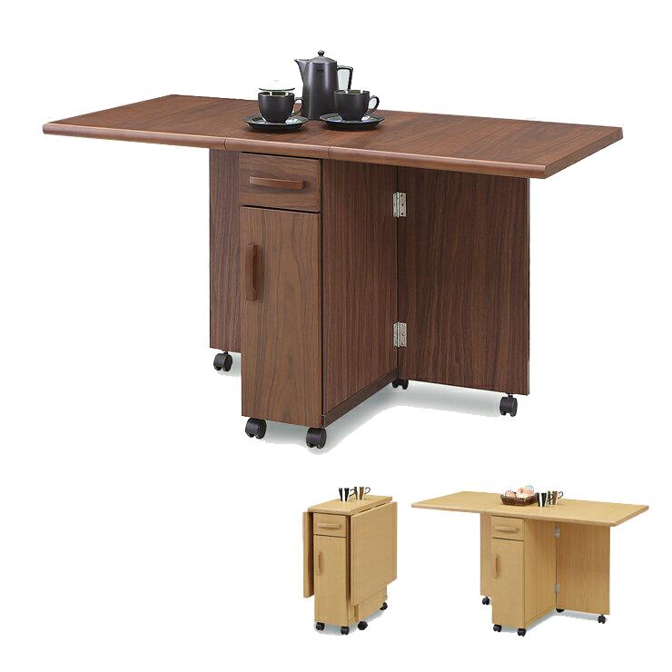 キッチンカウンター 完成品 幅125cm 125cm幅 125幅 ナチュラル ブラウン 木製 北欧風 キッチン収納家具 食器収納  食器棚 家電収納 キッチンボード