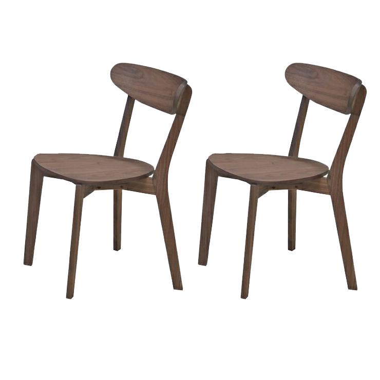 ダイニングチェアー 2脚セット ダークブラウン 木製 北欧風 食堂椅子 食堂イス 食卓チェアー 食堂チェアー カウンターチェアー いす カフェチェアー
