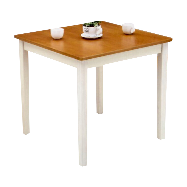 Dining Table Only 75 Cm Wide White Brown Wood Rustic Cafe Tables Room Two For 2 People Seat